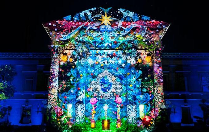 OSAKA光のルネサンス2015-ウォールタペストリー